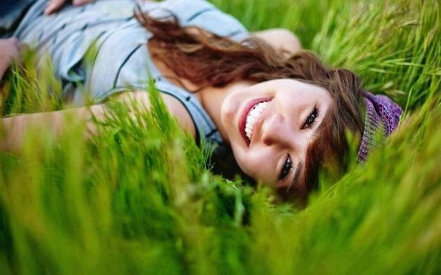 Счастливая девушка